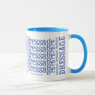 "Horsey-Girl's ""Dressage"" WordArt Mug - Powder Blue"