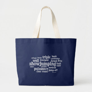 Horsey-Girl's Jumping Words Design Tote Tote Bags