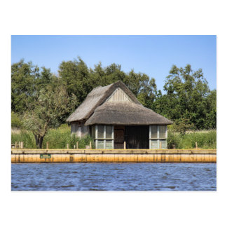 Horsey mere thatched cottage postcard