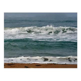 Horsfall Beach, Oregon Artwork Postcard