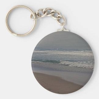 Horsfall Beach, Oregon Basic Round Button Keychain