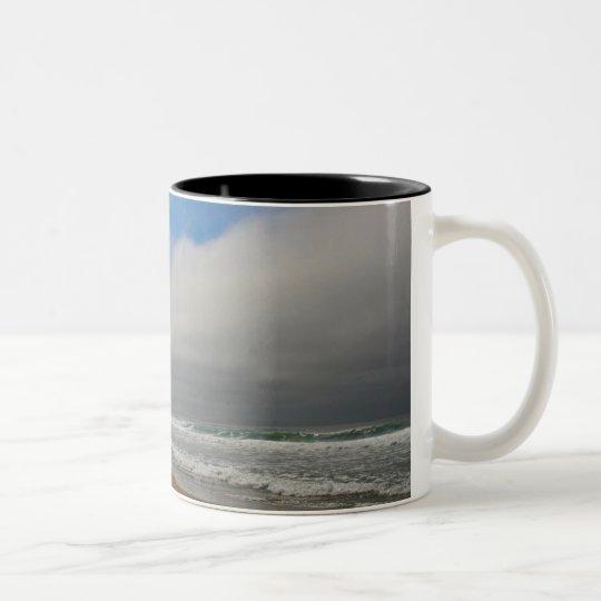 Horsfall Beach, Oregon Two-Tone Coffee Mug