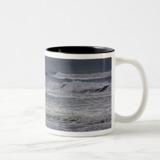Horsfall Beach, Oregon Two-Tone Coffee Mug
