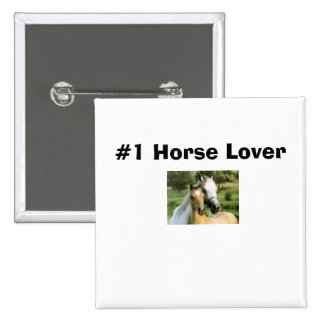 horsie, #1 Horse Lover 2 Inch Square Button