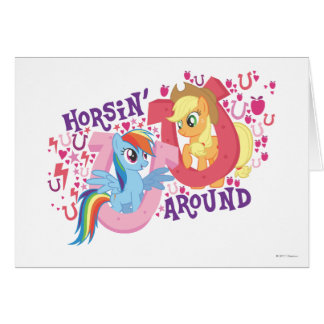 Horsin Around Card
