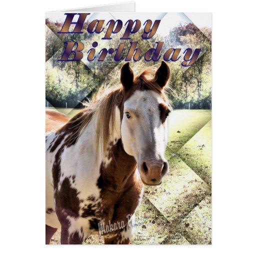 Horsin' around on your birthday greeting card
