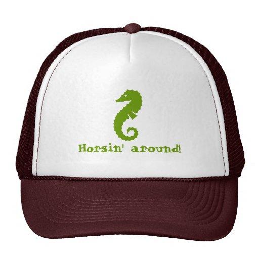 Horsin' around! trucker hat