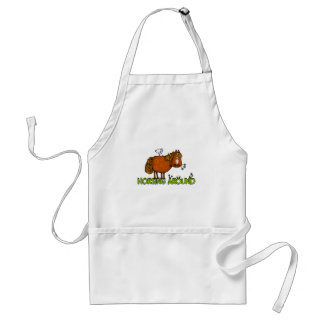 horsing around adult apron