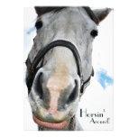 Horsing Around - Funny Horse Face for equestrians Custom Invites