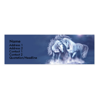 horsing-around-skinny-card-f, Name, Address 1, ... Double-Sided Mini Business Cards (Pack Of 20)