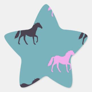 Horsing around star sticker
