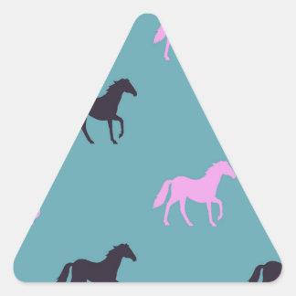 Horsing around triangle sticker
