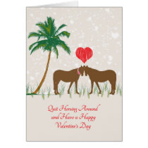 Horsing Around Valentine's Day Card with Horses