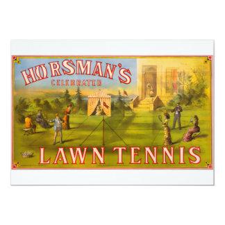 Horsman's Lawn Tennis Card