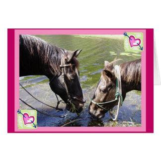 Horsy Romance Card