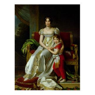 Hortense de Beauharnais and her Son Postcard