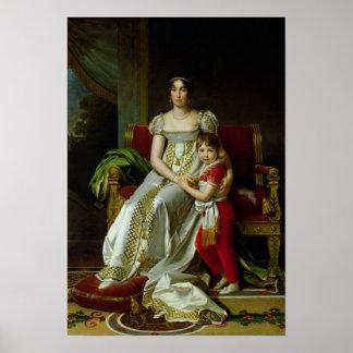 Hortense de Beauharnais and her Son Poster