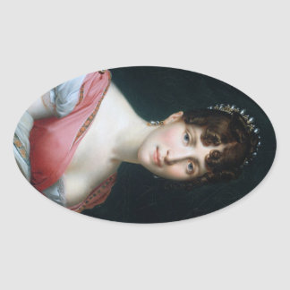 Hortense de Beauharnais Oval Sticker