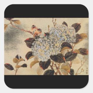 Hortensia', unknown artist_The Orient Square Sticker