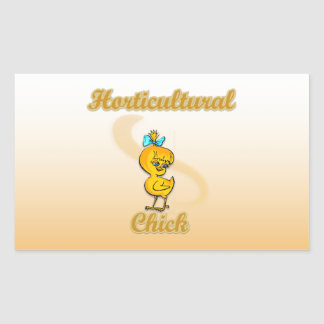 Horticultural Chick Rectangular Stickers