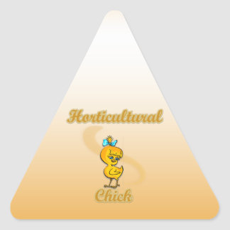 Horticultural Chick Triangle Stickers