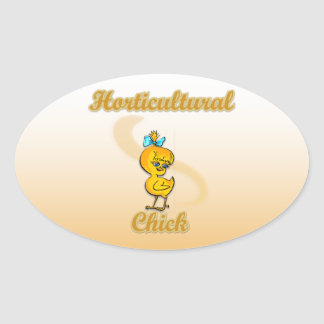 Horticultural Chick Oval Sticker