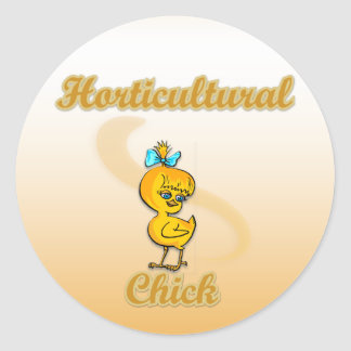 Horticultural Chick Round Sticker