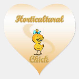 Horticultural Chick Heart Sticker