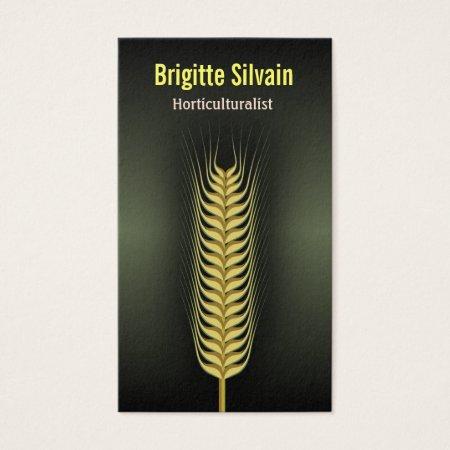 Wheat Grain Horticulturalist Business Card Template