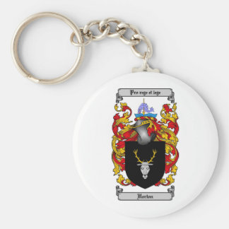 HORTON FAMILY CREST -  HORTON COAT OF ARMS KEYCHAIN