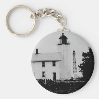Horton Point Lighthouse Basic Round Button Keychain