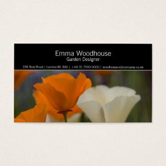 Hortus 2 - California Poppy Business Card