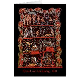 Hortus Deliciarum Hell Card