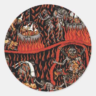 Hortus Deliciarum Hell Classic Round Sticker