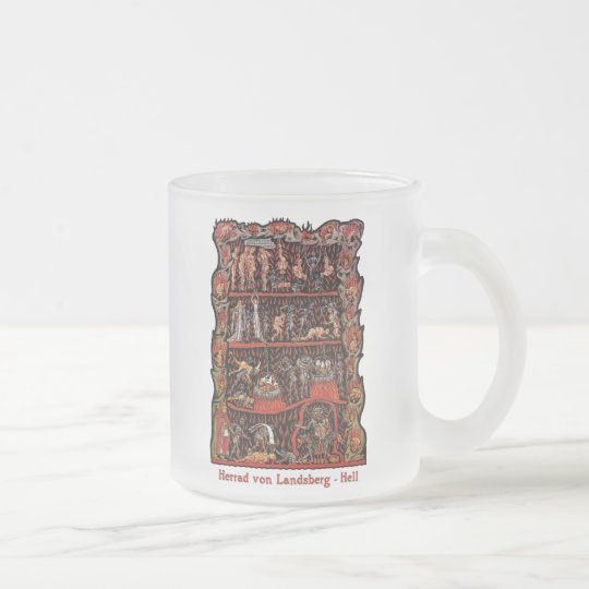 Hortus Deliciarum Hell Frosted Glass Coffee Mug