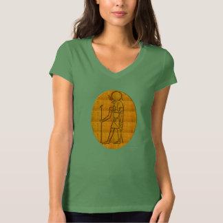 Horus Amulet Ladies Jersey V-neck T-Shirt