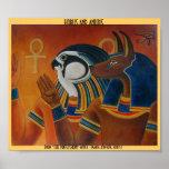 Horus and Anubis Poster