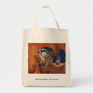 Horus and Anubis Tote Bag