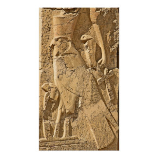 Horus, Falcon Hieroglyph, Egypt Poster