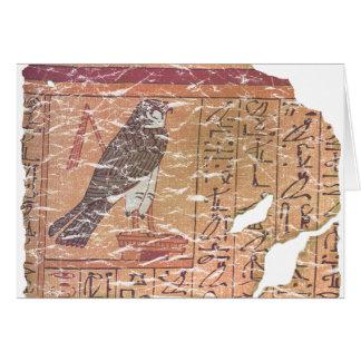 Horus speaks to Osiris Card