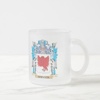 Horvath Coat of Arms - Family Crest 10 Oz Frosted Glass Coffee Mug