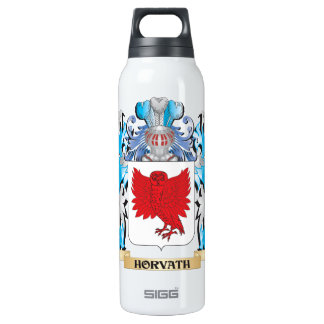 Horvath Coat of Arms - Family Crest 16 Oz Insulated SIGG Thermos Water Bottle