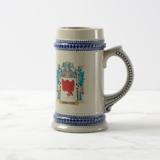 Horvath Coat of Arms - Family Crest 18 Oz Beer Stein