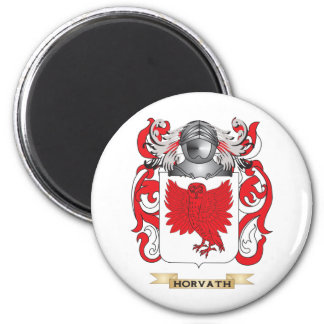 Horvath Coat of Arms (Family Crest) 2 Inch Round Magnet
