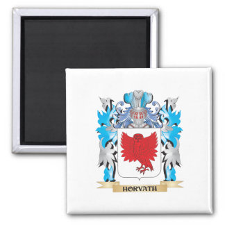 Horvath Coat of Arms - Family Crest 2 Inch Square Magnet