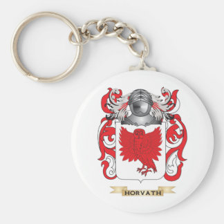 Horvath Coat of Arms (Family Crest) Basic Round Button Keychain