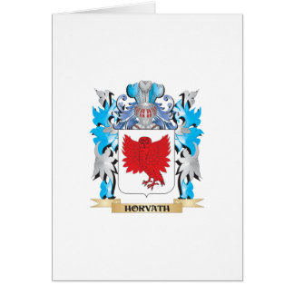 Horvath Coat of Arms - Family Crest Greeting Card