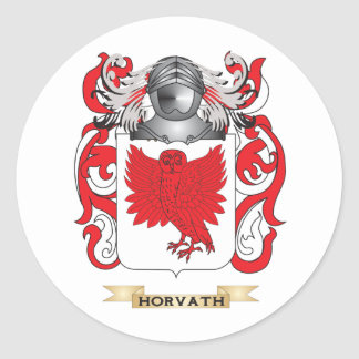 Horvath Coat of Arms (Family Crest) Classic Round Sticker