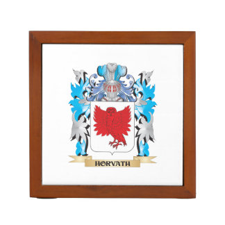 Horvath Coat of Arms - Family Crest Desk Organizer