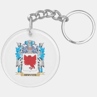 Horvath Coat of Arms - Family Crest Double-Sided Round Acrylic Keychain